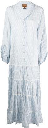 Alessia Santi Logo-Print Flared Shirt Dress