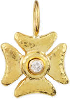 Elizabeth Locke Small Diamond Maltese Cross Pendant