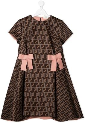 Fendi Kids TEEN FF-logo dress
