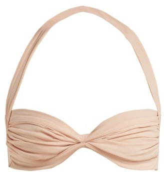 Norma Kamali Bill Ruched Bikini Top - Womens - Light Pink
