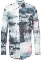 Nude printed shirt