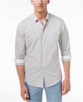 INC International Concepts Men's Cross Back Striped Cotton Shirt, Created for Macy's