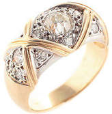 Designer 14kt Yellow Gold 15 Diamond Ring Size 6