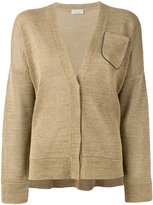 Brunello Cucinelli long sleeve pocket cardigan - women - Cotton - M