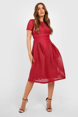 boohoo Boutique Full Skirted Prom Midi Dress
