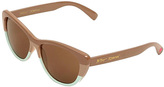 Betsey Johnson Brown Cat-Eye Sunglasses