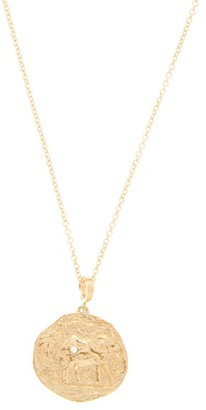 Azlee - Elefante Diamond & 18kt Gold Necklace - Gold