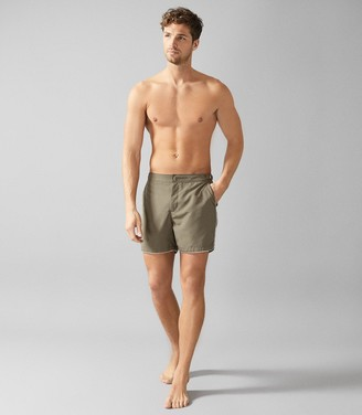 Reiss PRESLEY SWIM SHORTS WITH SIDE ADJUSTERS Sage