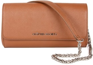 Crafted Society Simone Clutch/Cross Body - Camel Saffiano Leather