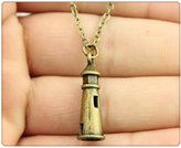 Nobrand No brand antique bronze 25*8mm 3D lighthouse necklace