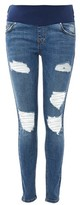 Topshop MATERNITY Super Rip Jamie Jeans