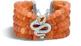 John Hardy Cobra Bead Bracelet with Peach Moonstone