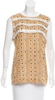 Tory Burch Embellished Sleeveless Top