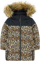 Molo Long printed padded coat Hertha