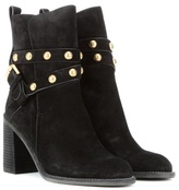 See by Chloe Embellished Suede Ankle Boots