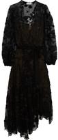 Zimmermann Good Times Wrap-effect Fil Coupé Silk Maxi Dress - Black