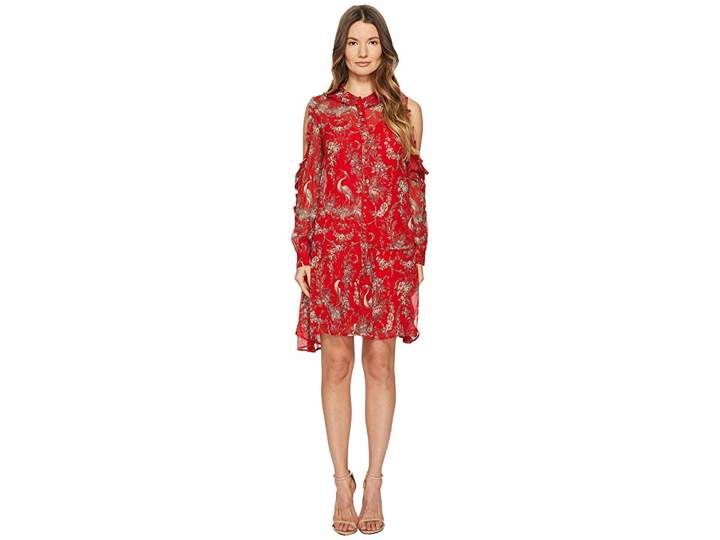 The Kooples Loose Birdy-Print Dress in Silk Muslin Women's Dress