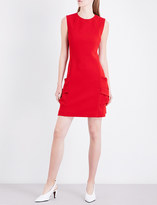 Victoria Beckham Sleeveless pleated pocket stretch-crepe mini dress
