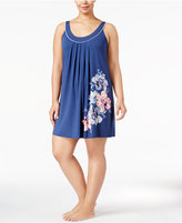 Alfani Plus Size Floral-Print Chemise, Created for Macy's
