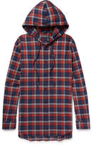 Balenciaga - Oversized Checked Cotton-flannel Hooded Shirt