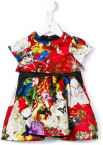 Roberto Cavalli floral print party dress - kids - Cotton/Polyester/Viscose - 6 mth