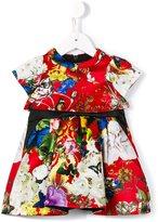 Roberto Cavalli floral print party dress
