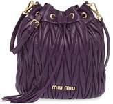 Miu Miu matelasse drawstring bucket bag
