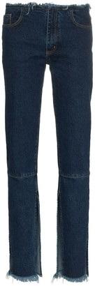 Marques Almeida Split Hem Low-Rise Jeans