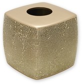 India Ink Huntington Resin and Cracked Glass Contemporary Tissue Box Cover - Champagne