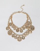 Aldo Multirow Coin Necklace