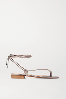Emme Parsons Ava Metallic Leather Sandals - Platinum