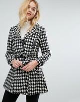 Vero Moda Houndstooth Belted Coat