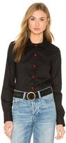 Love Moschino Red Heart Button Up Top