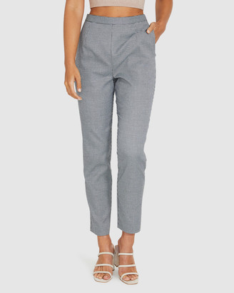 Alice In The Eve Valentine Houndstooth Pants Grey