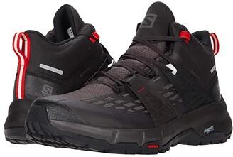Salomon Odyssey Mid GTX(r) (Black/Shale/High Risk Red) Men's Shoes