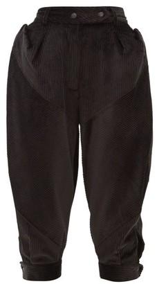 Symonds Pearmain - Puffed Cotton-corduroy Trousers - Black