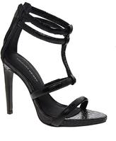 KG by Kurt Geiger Grace Black Leather Single Sole Sandals