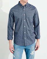 Hollister Stretch Patterned Oxford Shirt