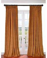Half Price Drapes VPCH-VET1211-108 Signature Doublewide Blackout Velvet Curtain, Amber Gold, 100 X 108