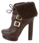 Rachel Zoe Shearling-Trimmed Ankle Boots