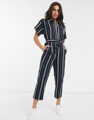 People Tree organic cotton stripe jumpsuit