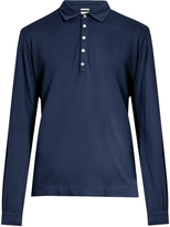 Massimo Alba Long-sleeved cotton and cashmere-blend polo shirt