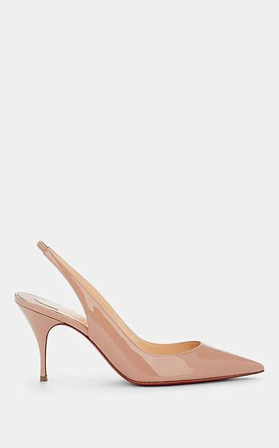 Christian Louboutin Women's Clare Sling Patent Leather Pumps - Nude