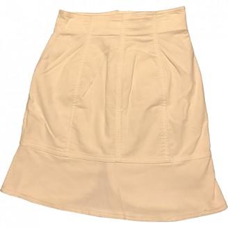 Emporio Armani White Velvet Skirt for Women