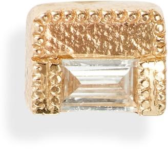 Jennie Kwon Designs Baguette Diamond Block Stud Earring