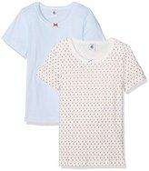 Petit Bateau Girl's Lot 2P T Shirtmc 2575700 Vest