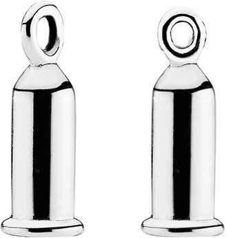 Pandora Silver Earring Charm Barrels