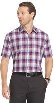 Van Heusen Men's Classic-Fit Plaid Textured Button-Down Shirt