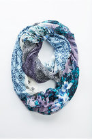 J. Jill Painted Patchwork Infinity Scarf