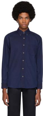 Blue Blue Japan Indigo Cotton Oxford Hand-Dyed Shirt
